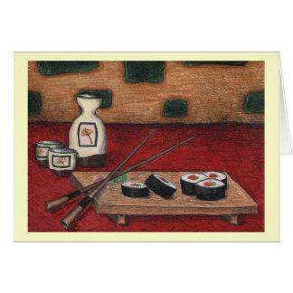 寿司および為のノート カード