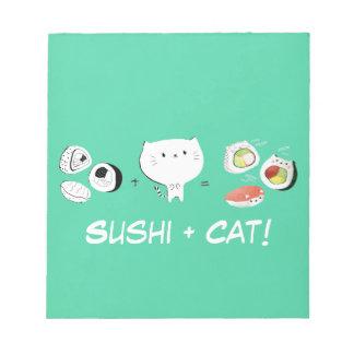 寿司と猫はCutenessに匹敵します! ノートパッド