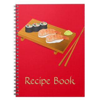 寿司のかわいく日本のな食糧 ノートブック