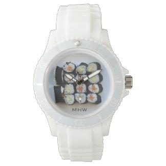 寿司のカスタムなモノグラムの腕時計 腕時計