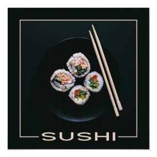 寿司のカスタムの招待状 カード