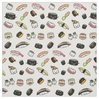 寿司のキャラクターパターン ファブリック