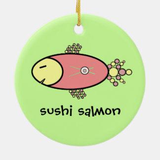 寿司のサケ セラミックオーナメント