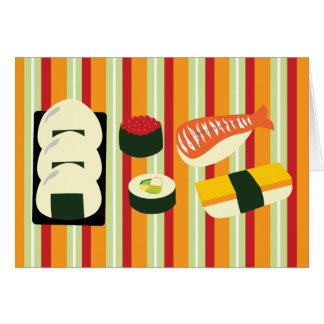 寿司のサンキューカード カード
