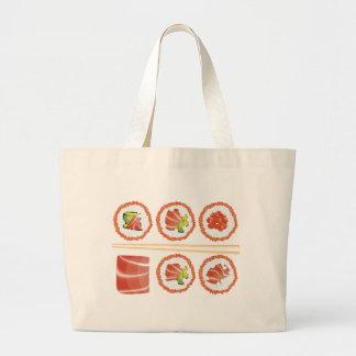 寿司のセット ラージトートバッグ