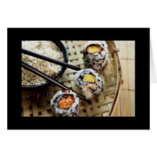 寿司のデザイン カード