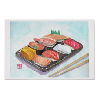 寿司のプリント ポスター