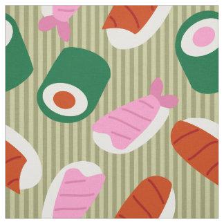 寿司のポップアート ファブリック