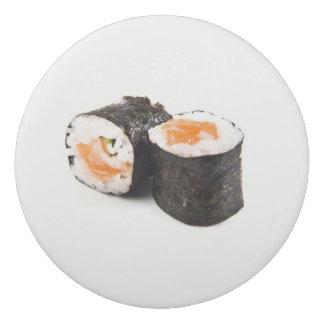 寿司の円形の消す物、緑日本のなサーモンピンクのMaki 消しゴム