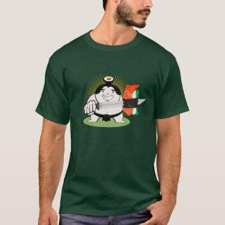 寿司の剣を持つ相撲の人 Tシャツ