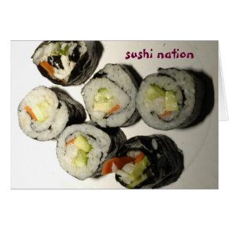寿司の国家の挨拶状 カード