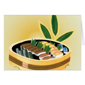 寿司の提示 カード