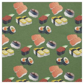 寿司の日本の食糧緑の生地 ファブリック