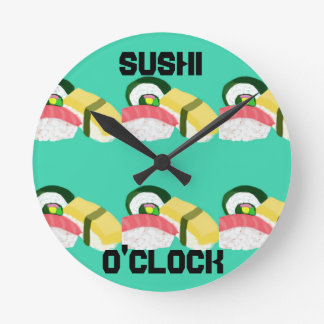 寿司の時の時計 ラウンド壁時計