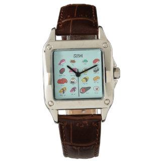 寿司の時間! あなたの寿司によって風味を付けられる時間の部分を得て下さい! 腕時計