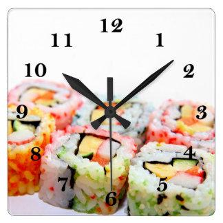 寿司の柱時計 スクエア壁時計