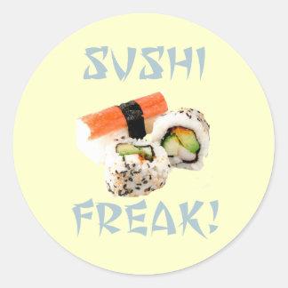 寿司の異常なステッカー ラウンドシール