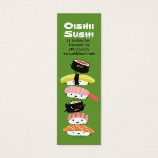寿司の積み重ね-おもしろいのかわいいの寿司の友人 スキニー名刺