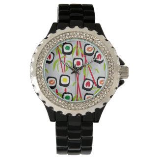 寿司の背景 腕時計