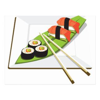 寿司の食事 ポストカード