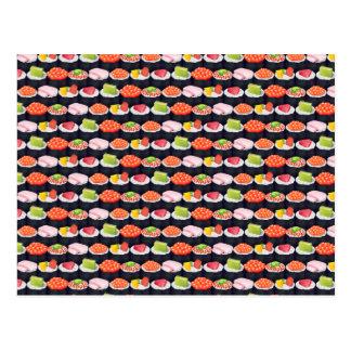 寿司パターン ポストカード