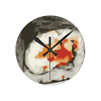 寿司ロール日本のな食糧恋人 ラウンド壁時計