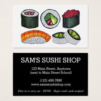 寿司ロール日本日本のな食糧レストランのシェフ 名刺