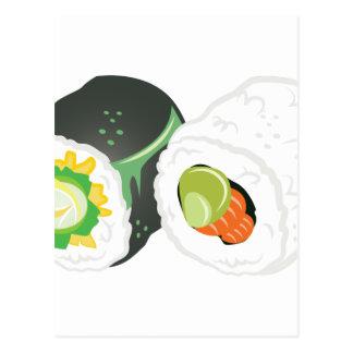 寿司ロール ポストカード