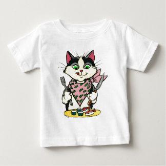 寿司猫のワイシャツ ベビーTシャツ