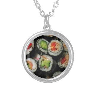 寿司 シルバープレートネックレス