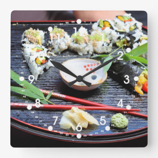 寿司 スクエア壁時計