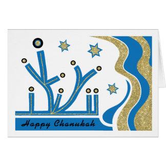 封筒が付いているハヌカーまたはハヌカー(ユダヤ教の祭り)の挨拶状 グリーティングカード