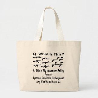 専制政治の犯罪者に対して私の保険証券を撃ちます ラージトートバッグ