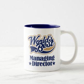 専務理事ギフトのための(世界のベスト) ツートーンマグカップ
