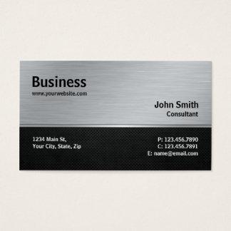 専門のエレガントでモダンな銀および黒い金属 名刺