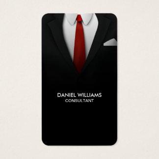 専門のエレガントでユニークでモダンなスーツのコンサルタント 名刺
