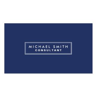 専門のエレガントで明白でシンプルでモダンな青 スタンダード名刺