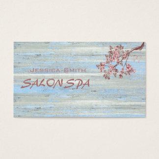 専門のエレガントな木製の質の桜 名刺