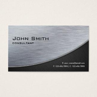 専門のエレガントな銀製のモダンな金属の黒 名刺