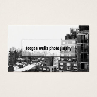 専門のカメラマンの写真カード 名刺