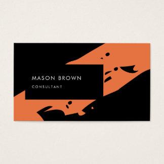 専門のコンサルタントのモダンで黒いオレンジ 名刺