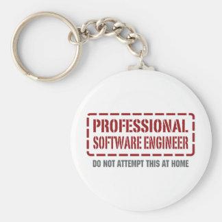 専門のソフトウェアエンジニア キーホルダー