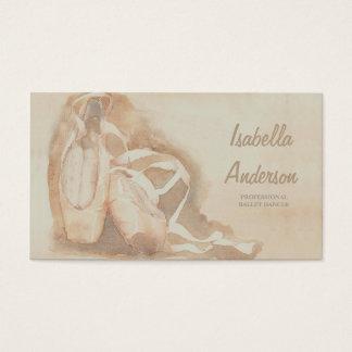 専門のバレエダンサーのスタジオの劇場カード 名刺