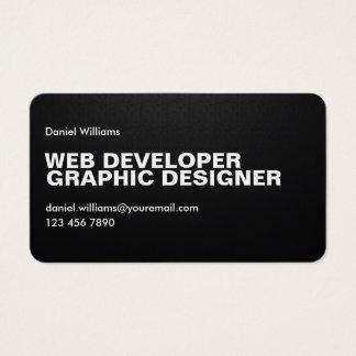 専門のミニマルでユニークなPixelatedのくもの巣デザイナー 名刺