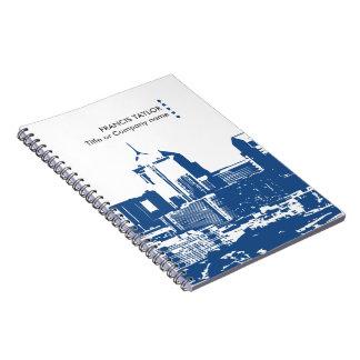 専門のモダンな概要ビジネス都市景観… ノートブック