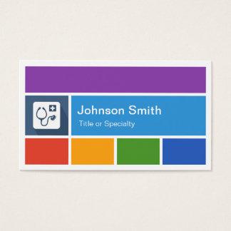 専門の医者-創造的でモダンな地下鉄のスタイル 名刺
