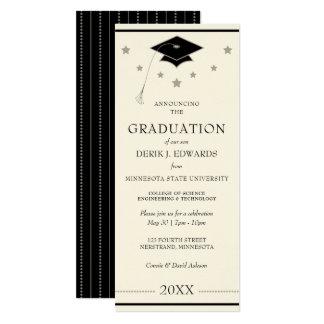 専門の大学卒業の発表 カード