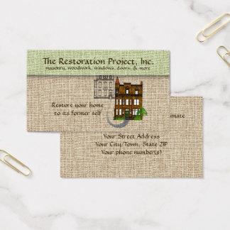 専門の復帰、保存、石工 名刺