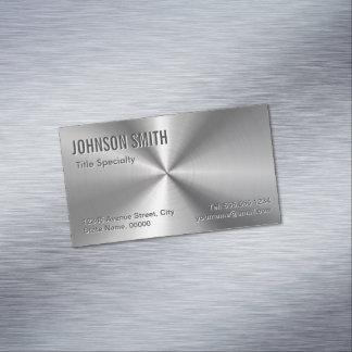 専門の明白なスライバ放射状の金属一見 マグネット名刺 (25枚パック)