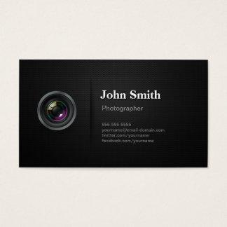専門の明白な黒カメラのカメラマン 名刺